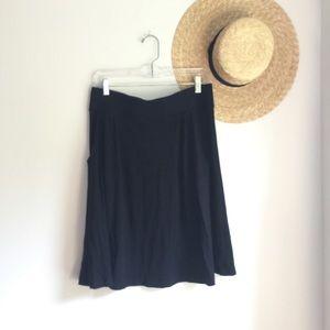 J. Crew black knit knee length minimalist skirt